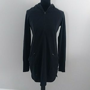 ATHLETA LONG BLACK JACKET SIZE MEDIUM